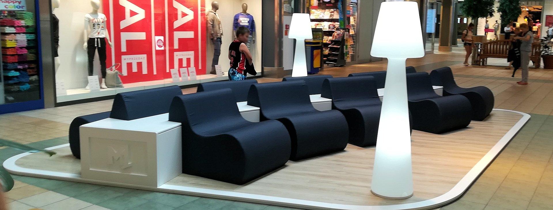 strefy wypoczynku w centrach handlowych