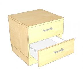 Komoda z dwiema szufladamio