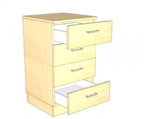 Komoda z 4 szufladami