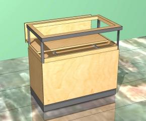 Lada sklepowa - z szufladą jubilerską